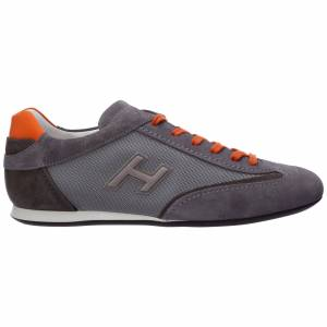 Hogan Men's shoes suede trainers sneakers olympia  - Men - Grey - Size: 44.5