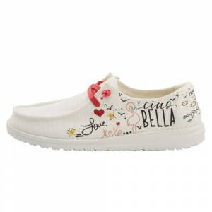 Hey Dude WENDY CHAMBRAY DOODLE WHITE Size: UK4 / EU37