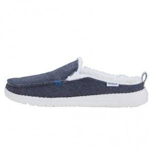 Hey Dude Faux Fur Lined Lexi Dark Grey Slip-On Mule Size: UK4 / EU37