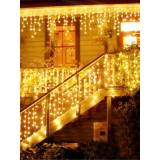 Newchic Christmas Garland LED Curtain Icicle String Lights Garland Christmas Fairy Light Outdoor Party Decor