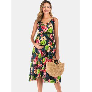 Newchic Maternity Summer Floral Sleeveless Casual Nursing Slip Dress