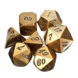Newchic Antique Color Heavy Dice Set Polyhedral Dices Role Playing Games Dice Gadget RPG