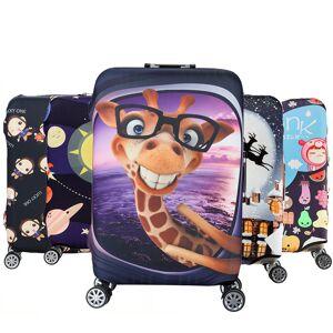 Newchic Honana Cartoon Cute Animal Elastic Luggage Cover Trolley Case Cover Warm Travel Suitcase Protector