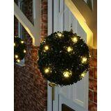 Newchic 20cm Solar Powered Artificial Topiary Ball LED Solar Light Outdoor Wedding Garden Lamp