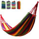 Newchic Outdoor Garden Back Yard Travel Camping Beach Stripe Hammock Hang Bed