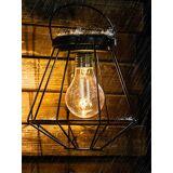 Newchic Solar Powered Vintage LED Lantern Hanging Light Outdoor Garden Yard Lamp Garden Outdoor Lights