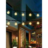 Newchic 9.5M 50 LED Solar Fairy Bulb String Light 8 Modes Outdoor Indoor Garden Wedding Holiday Lamp