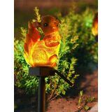 Newchic Squirrel Solar Lawn Lamp Garden Decor Light Waterproof Outdoor Pathway