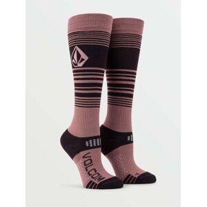Volcom Women's Tundra Tech Sock - Rose Wood  - ROSE WOOD - Size: Medium