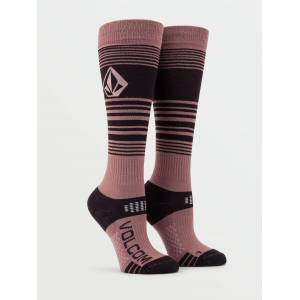 Volcom Women's Tundra Tech Sock - Rose Wood  - ROSE WOOD - Size: M/L