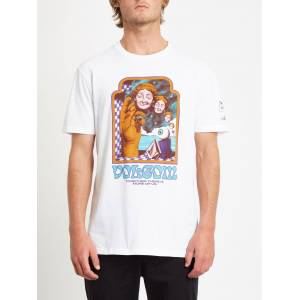 Volcom Men's Max Loeffler T-shirt - WHITE  - WHITE - Size: Medium