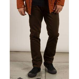 Volcom Vorta 5 Pocket Slub Slim Fit Jeans - Dark Chocolate  - DARK CHOCOLATE - Size: 26