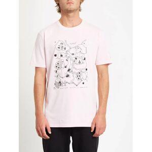 Volcom Men's Briand T-shirt - SNOW PINK  - SNOW PINK - Size: Medium