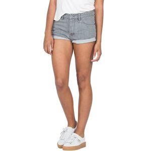Volcom Women's Stoned Short Rolled Shorts - Grey Vintage  - GREY VINTAGE - Size: 3