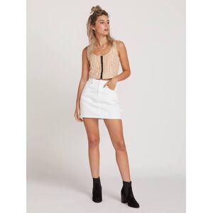 Volcom Fix It Mini Skirt - White  - WHITE - Size: Large