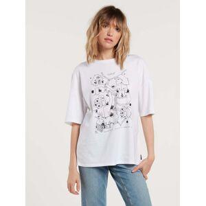 Volcom Women's Briand T-shirt - WHITE  - WHITE - Size: L