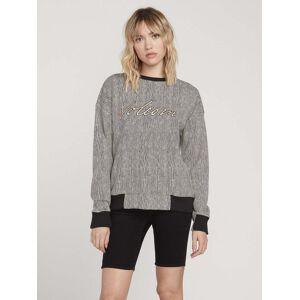 Volcom Women's Allooover Sweater - Stripe  - STRIPE - Size: Large