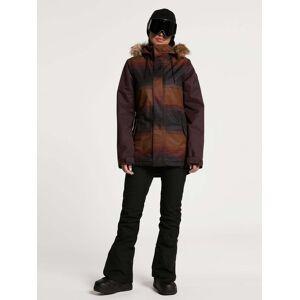 Volcom Women's Fawn Insulated Jacket - Stripe  - STRIPE - Size: Large