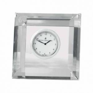 Royal Doulton Radiance Faceted Square Clock