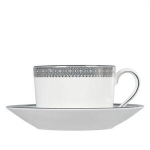 Wedgwood Vera Wang Lace Platinum 150ml Tea Cup & Saucer