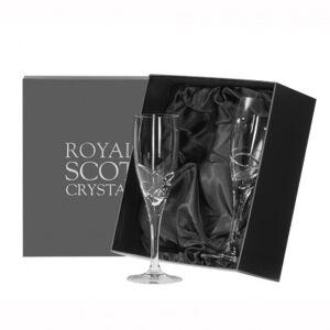 Royal Scot Skye Set of 2 Flute Champagne Glasses