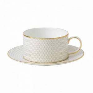 Wedgwood Arris Tea Cup & Saucer White