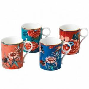 Wedgwood Paeonia Blush Set of 4 Mugs