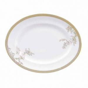 Wedgwood Vera Wang Lace Gold 35cm Oval Serving Platter