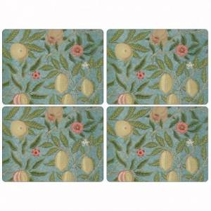 Pimpernel Fruit Blue Tablemats - Set of 4