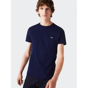 Lacoste Pima Cotton T-Shirt In Navy Blue  - Blue - Size: Small