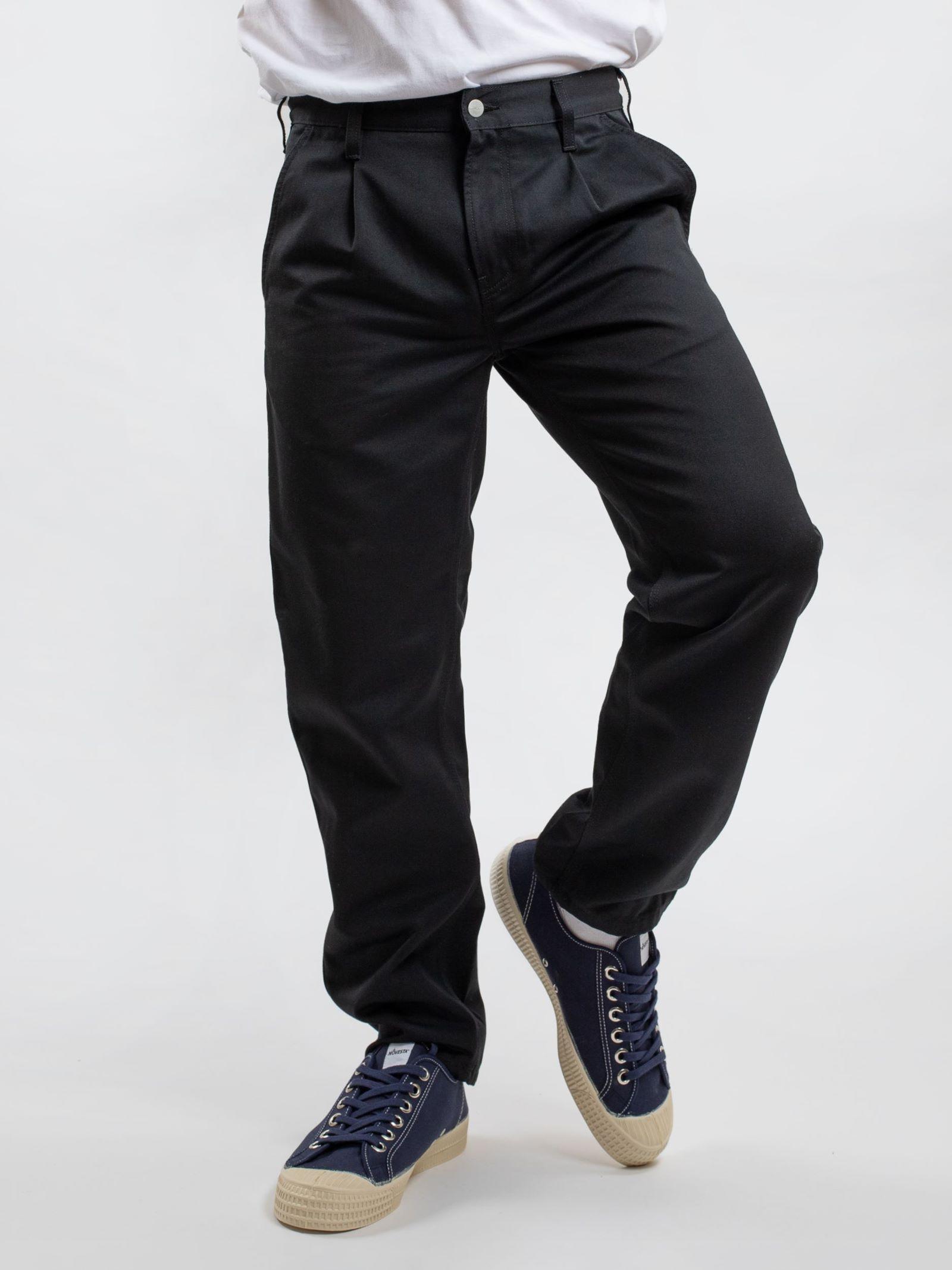 Carhartt WIP Men's Abbott Pant In Black/Rinsed  - Black - Size: 36