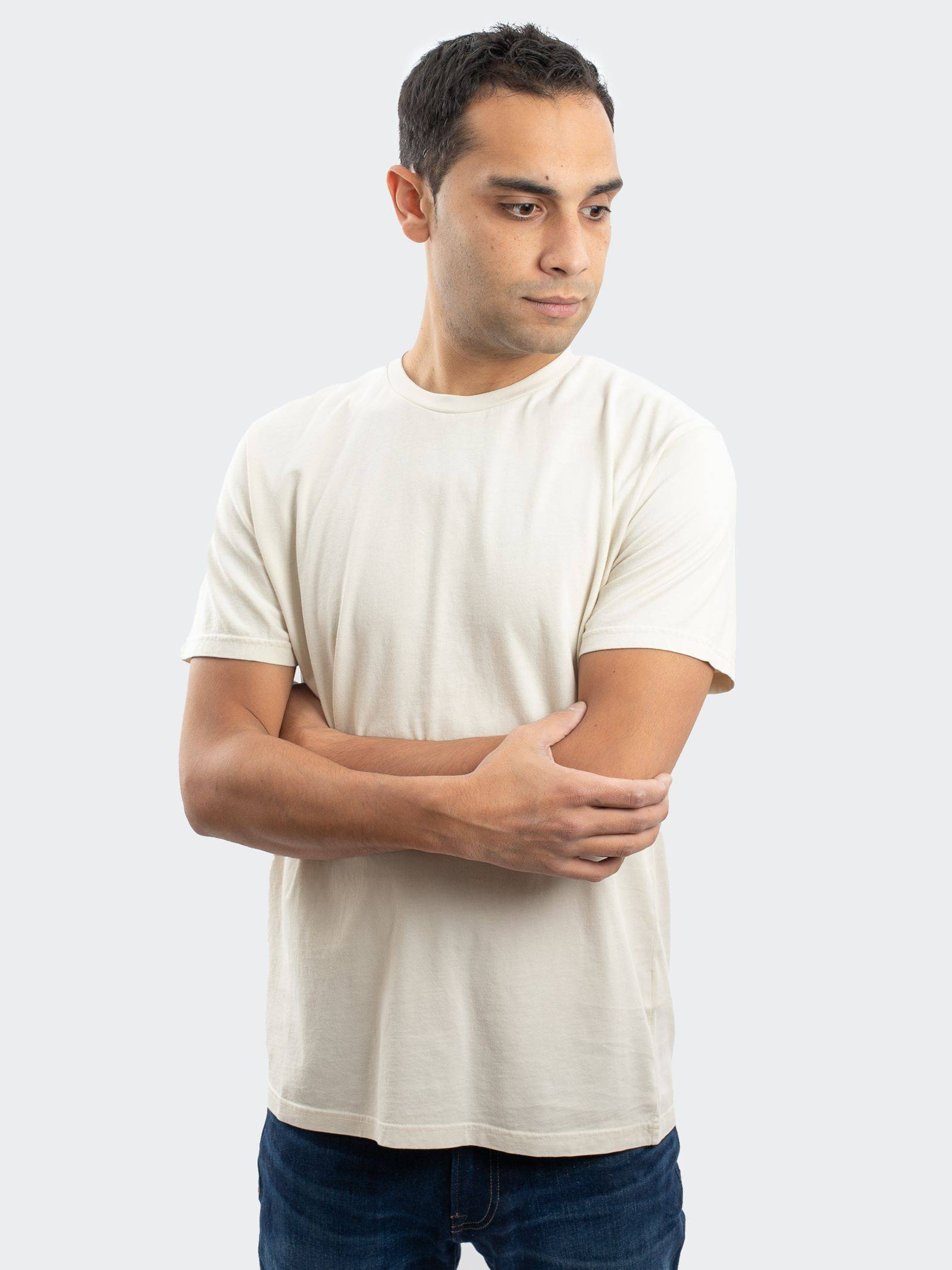 Colorful Standard Men's Classic Organic T-Shirt In Ivory White  - Neutrals - Size: Large