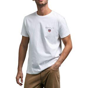 GANT Medium Shield T-Shirt In White  - White - Size: Large