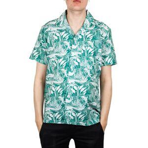Far Afield Selleck S/S Linen Shirt In Salines Green  - Green - Size: Medium