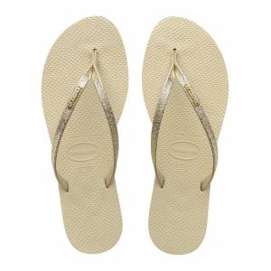 Havaianas Women's You Shine Flip Flops In Beige/Gold  - Gold - Size: UK 3/4, BR 35/36
