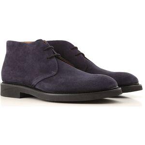 000000800903 Doucals Desert Boots Chukka for Men, Dark Blue, suede, 2019, 5.5 7