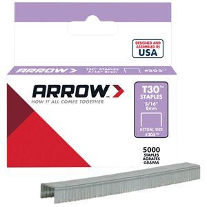 Arrow A305IP T30 Staples 305IP 8mm (5/16in) Box 5000