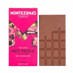 Montezuma's Hot Pickle - Milk Chocolate with Chilli & Lime