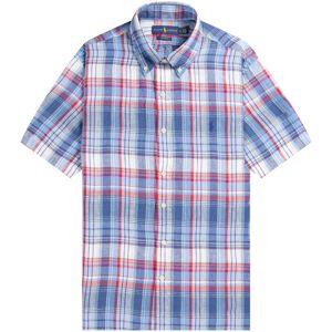 Ralph Lauren 'Custom Fit' Gingham Linen Shirt Red/Blue  - Red/Blue - Size: Small