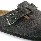 Birkenstock Boston Felt Slip On Clogs Shoes - Anthracite - UK 9.5 / EU 44 - Grey
