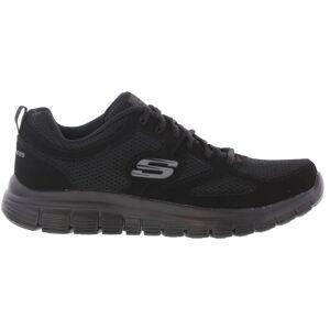 Skechers Mens Black Burns Agoura Running Trainers - UK 12; Black, Textile