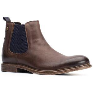 Base London Mens Flint Chelsea Ankle Boots - UK 9; Brown, Leather
