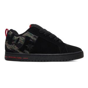 DC Mens Court Graffik Skate Shoes - UK 10; Black, Leather