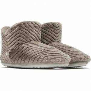 Joules Womens Cabin Luxe Bootie Slippers - Large - Grey