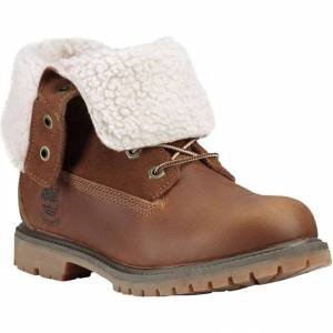 Timberland Womens Teddy Fleece Waterproof Ankle Boots - UK 5; Brown, Leather