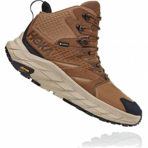 Hoka One One Mens Anacapa Mid GTX Waterproof Walking Hiking Boots - UK 11 / US 11.5 - Brown