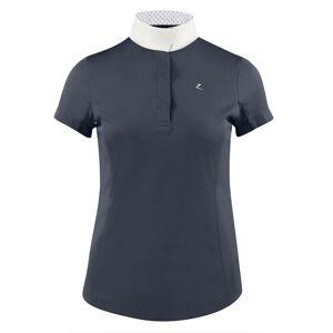 Horze Blaire Women's Short-Sleeved Functional Show Shirt  - Dark Navy - Size: UK 18
