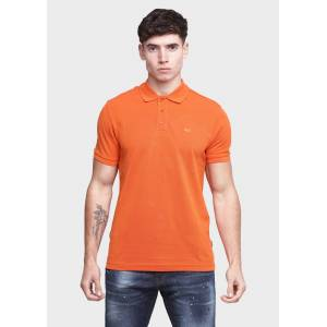 883 Police King Orange Mens Polo T Shirts