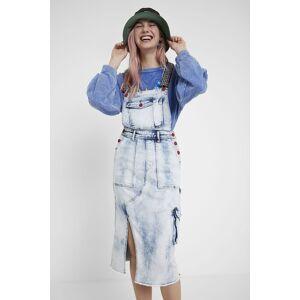 Desigual Overall type jean dress - BLUE - M