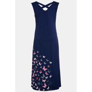 Ulla Popken Butterfly Hem V-Neck Knit Lounge Dress - Plus size fashion  - Female - Dark Blue - Size: 20 22